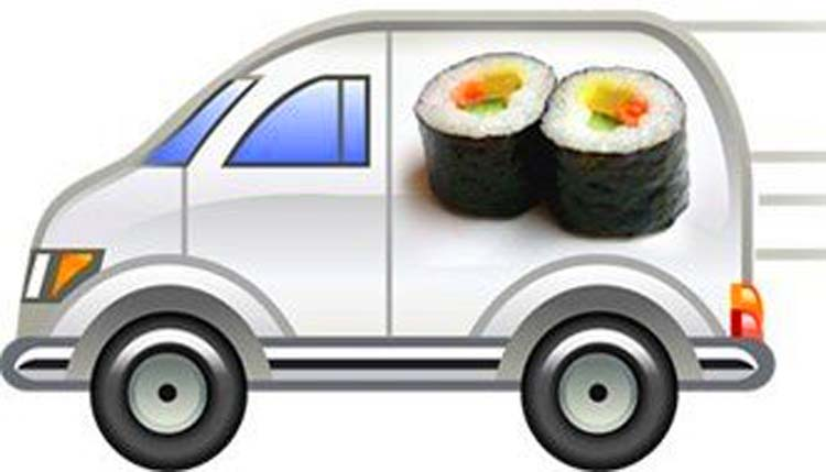 протяжении многих развозка суши на своем авто молодых
