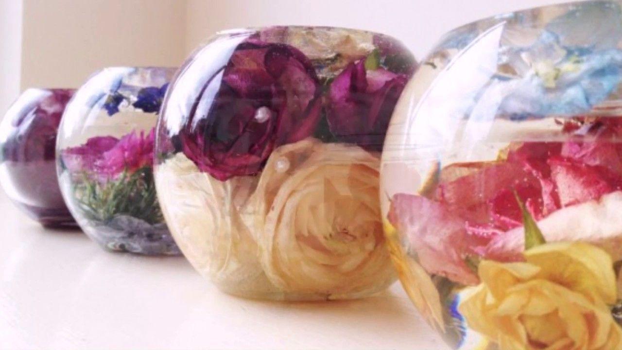 Как сделать живые цветы в глицерине