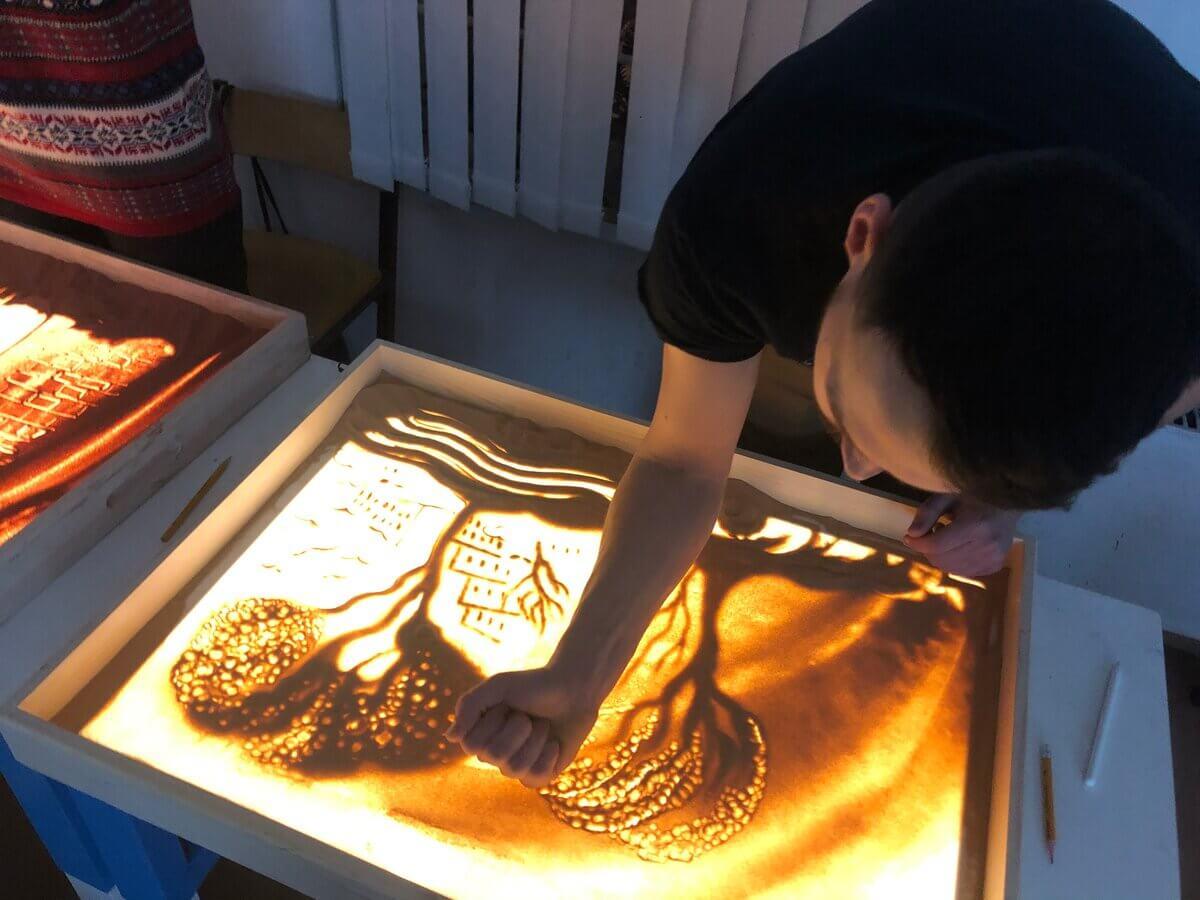 раскрутка студии рисования песком